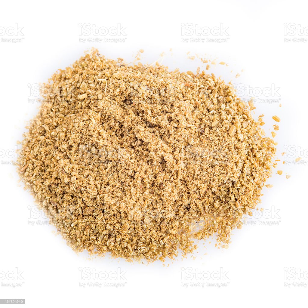 Cumin powder isolated on a white background stock photo