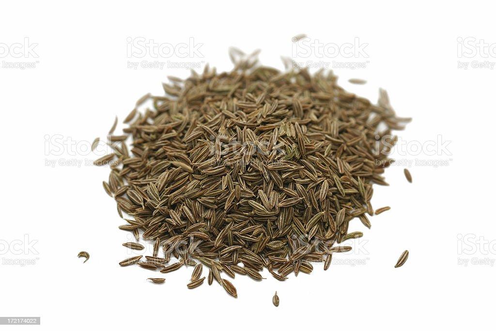 cumin seeds macro royalty-free stock photo