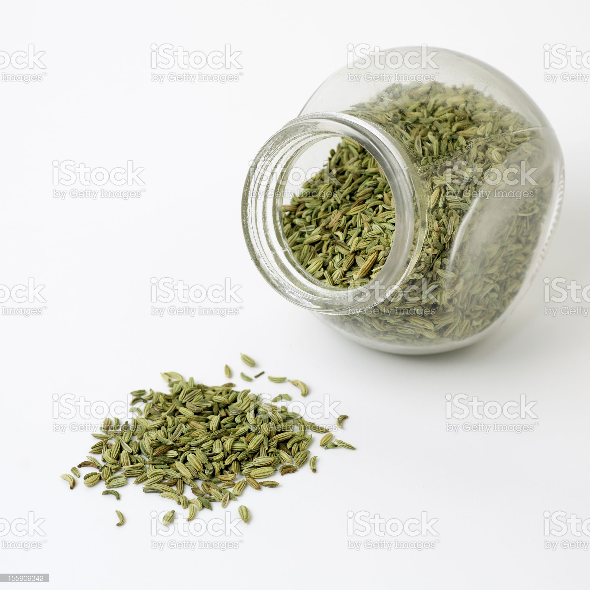 Cumin Seeds On White Background royalty-free stock photo