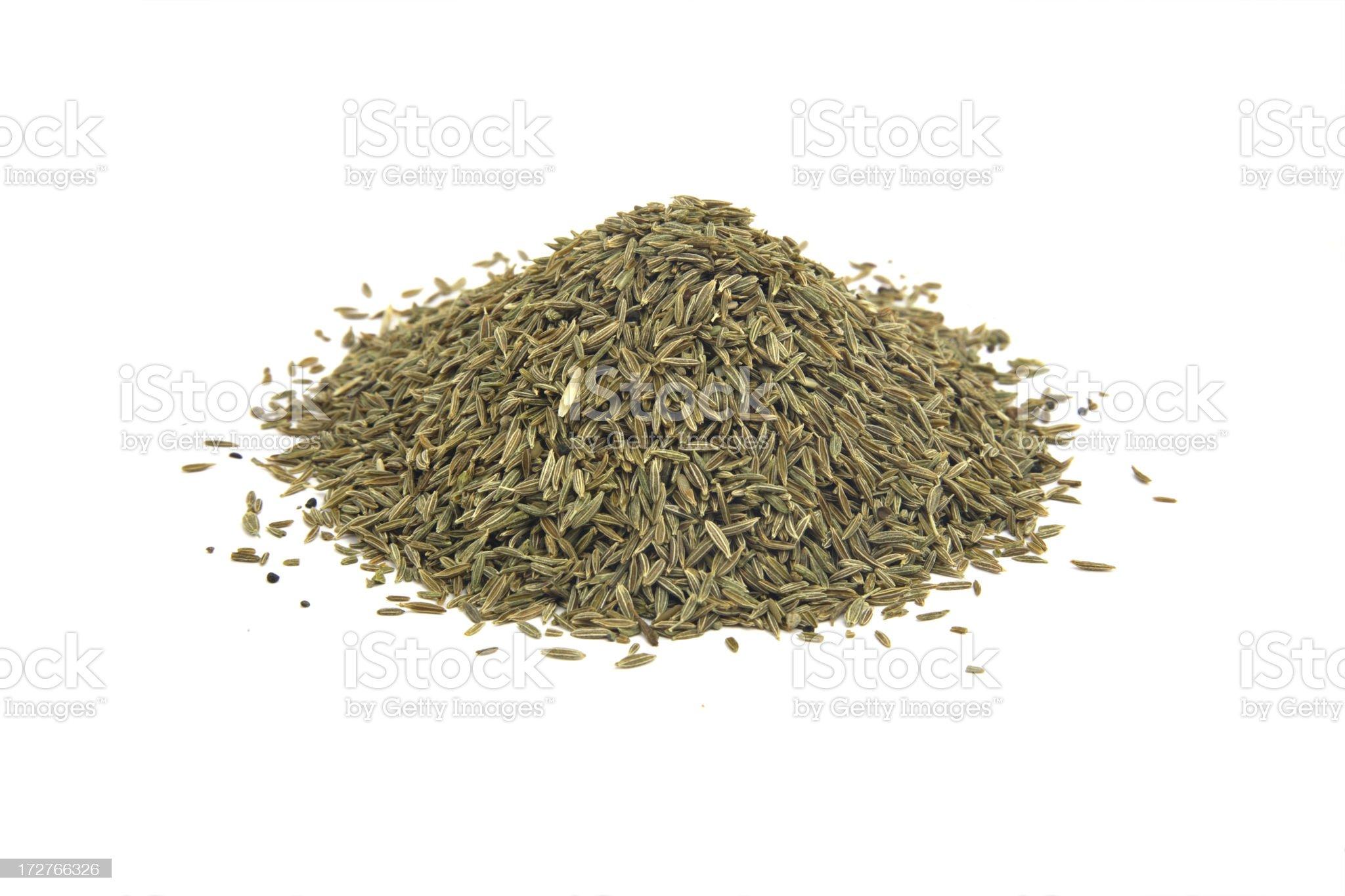 Cumin seeds. royalty-free stock photo
