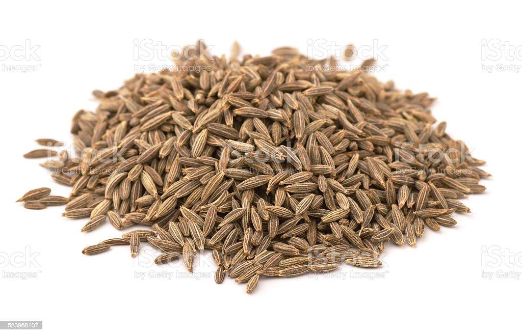 Cumin seeds stock photo