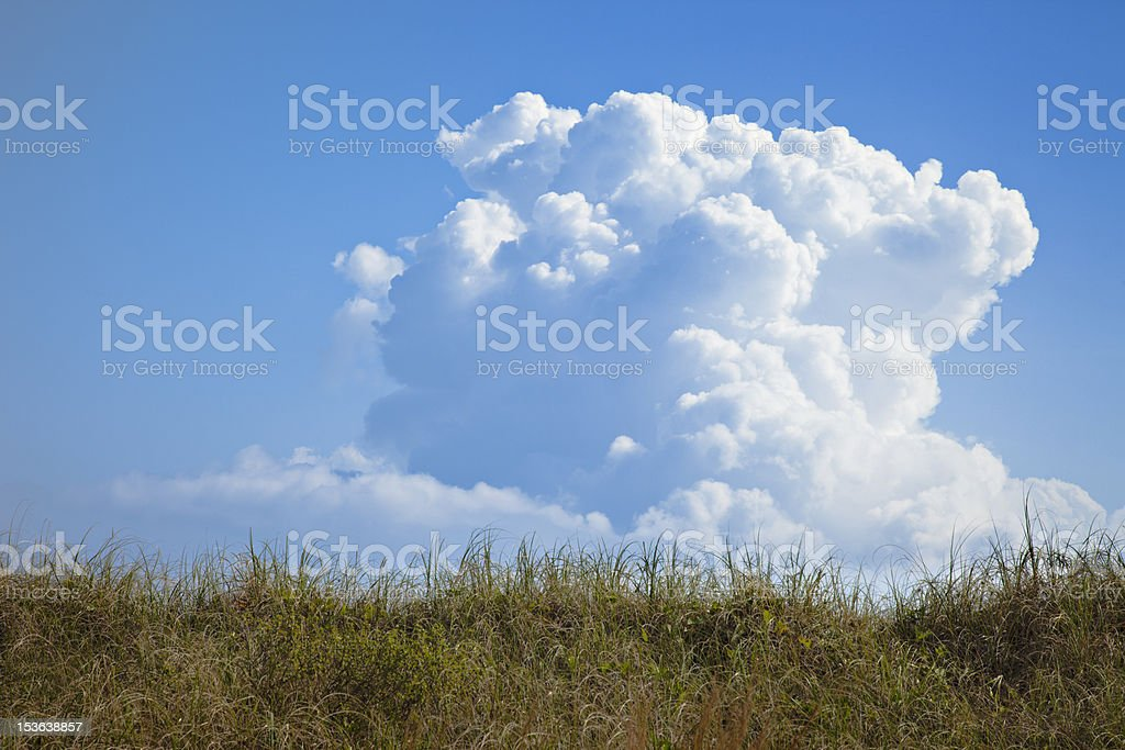 Cumulo Nimbus cloud forming stock photo