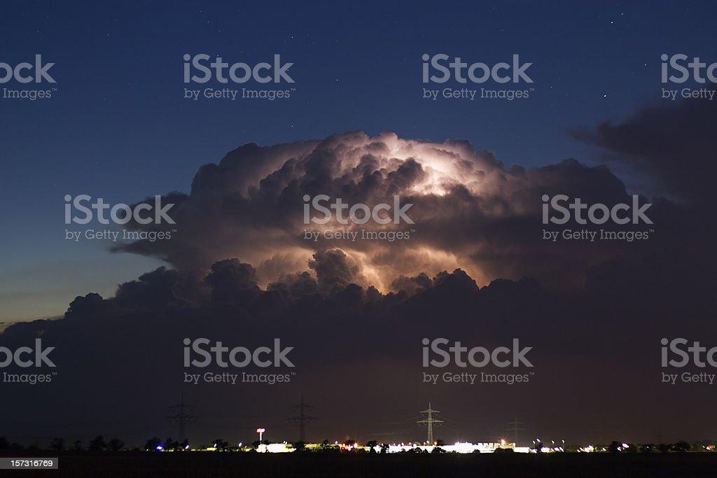 Cumulonimbus at night royalty-free stock photo