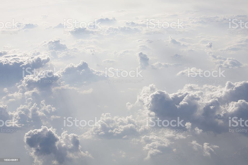 Cumulonimbus cloud seen from a Plane royalty-free stock photo