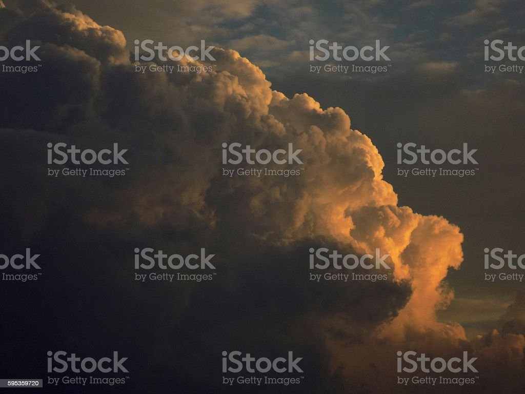 Cumulonimbus convective cloud indicating storm formation stock photo