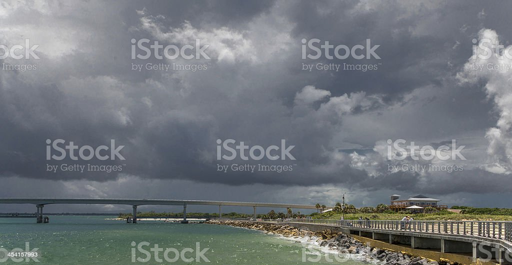 Cumulonimbus Line Squall In Florida stock photo