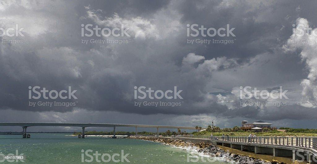 Cumulonimbus Line Squall In Florida stock photo