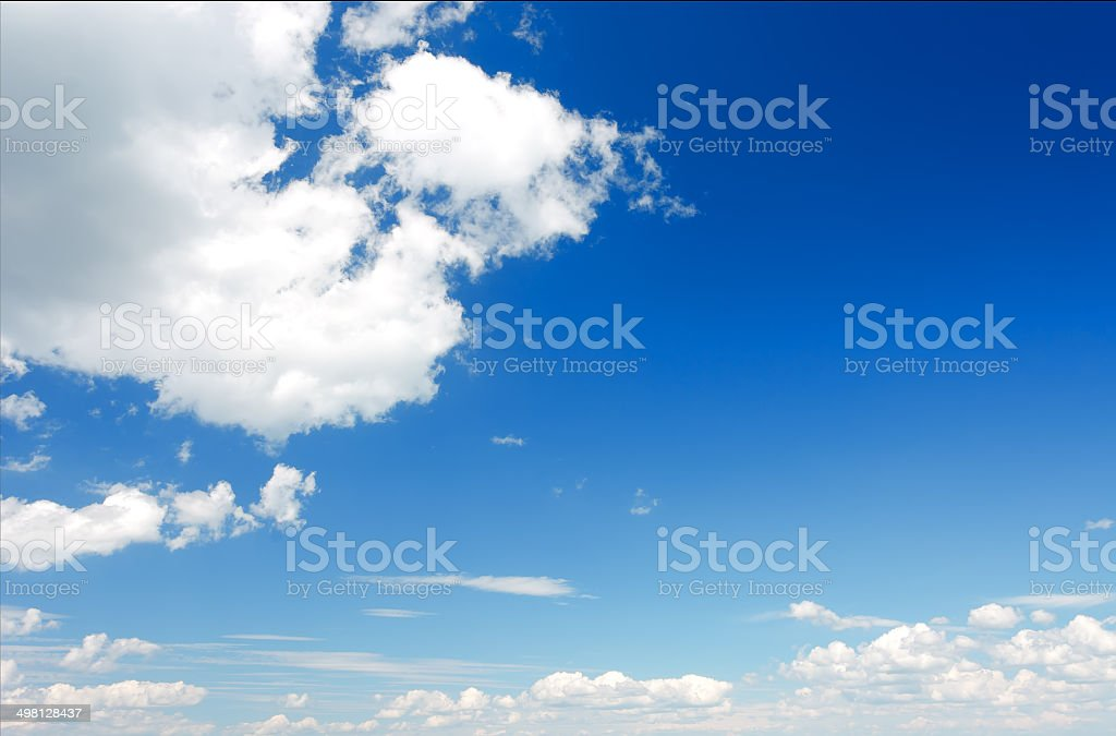 Cumulus clouds in the sky. royalty-free stock photo