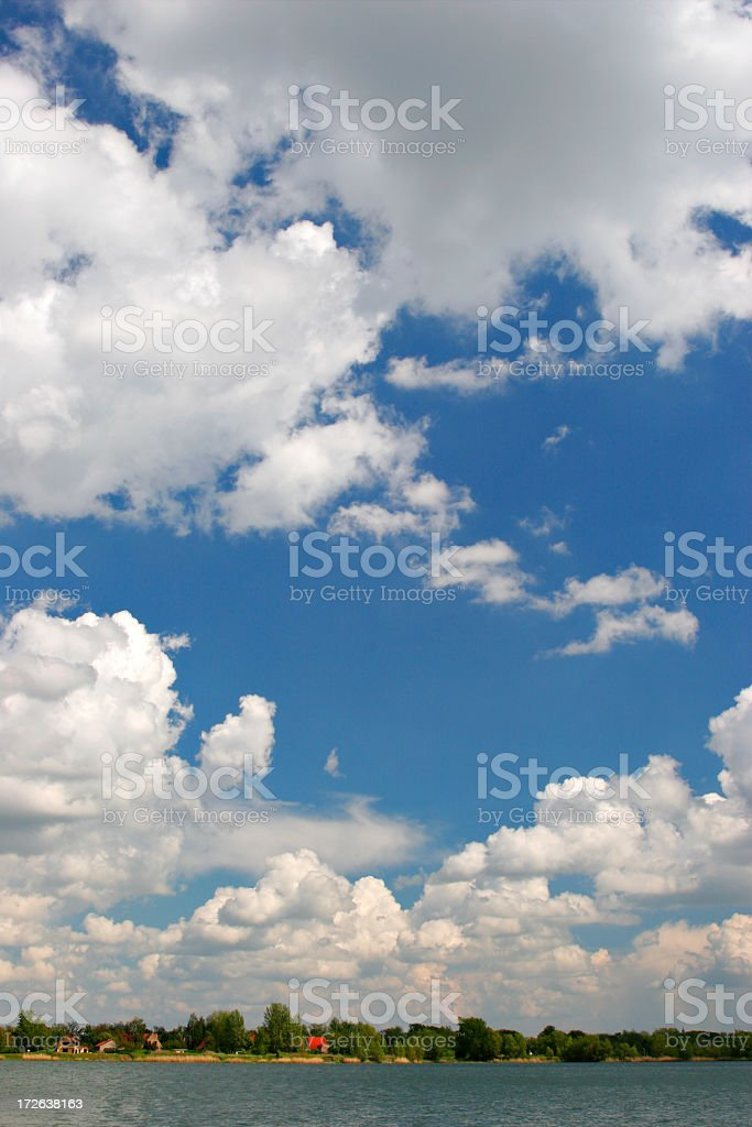 Cumulus Clouds royalty-free stock photo