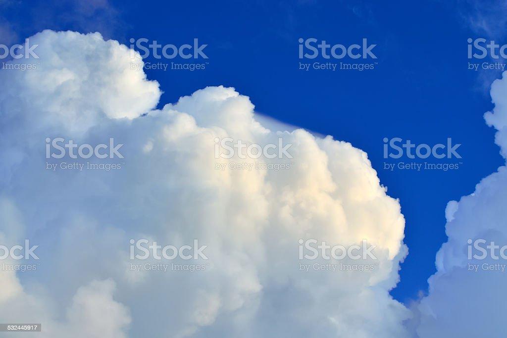 Cumulus clouds stock photo