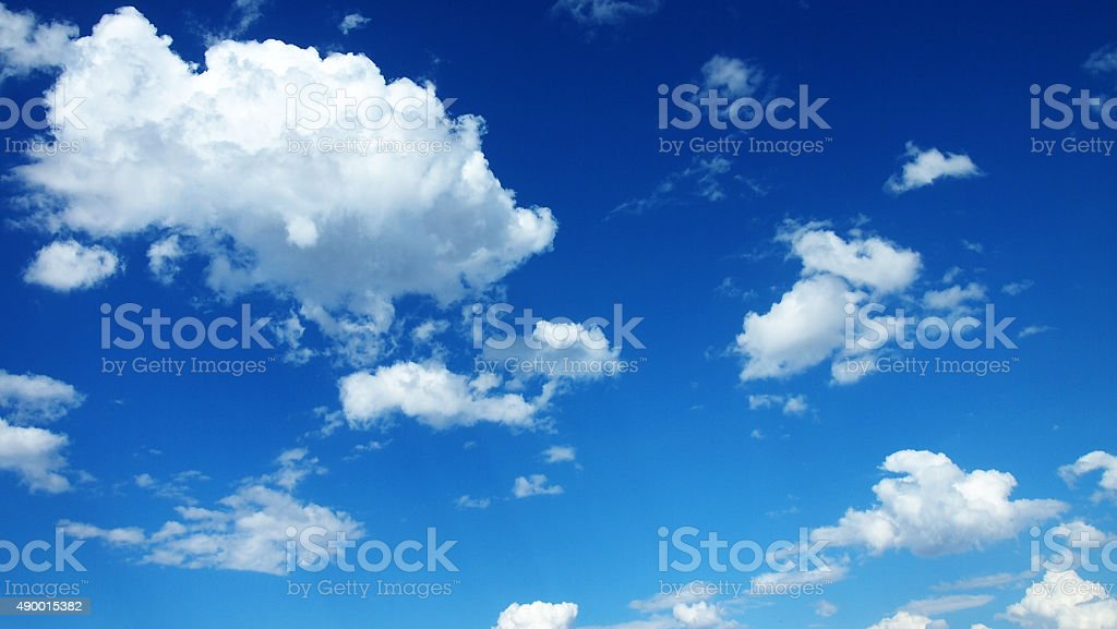 Cumulus Cloudscape stock photo