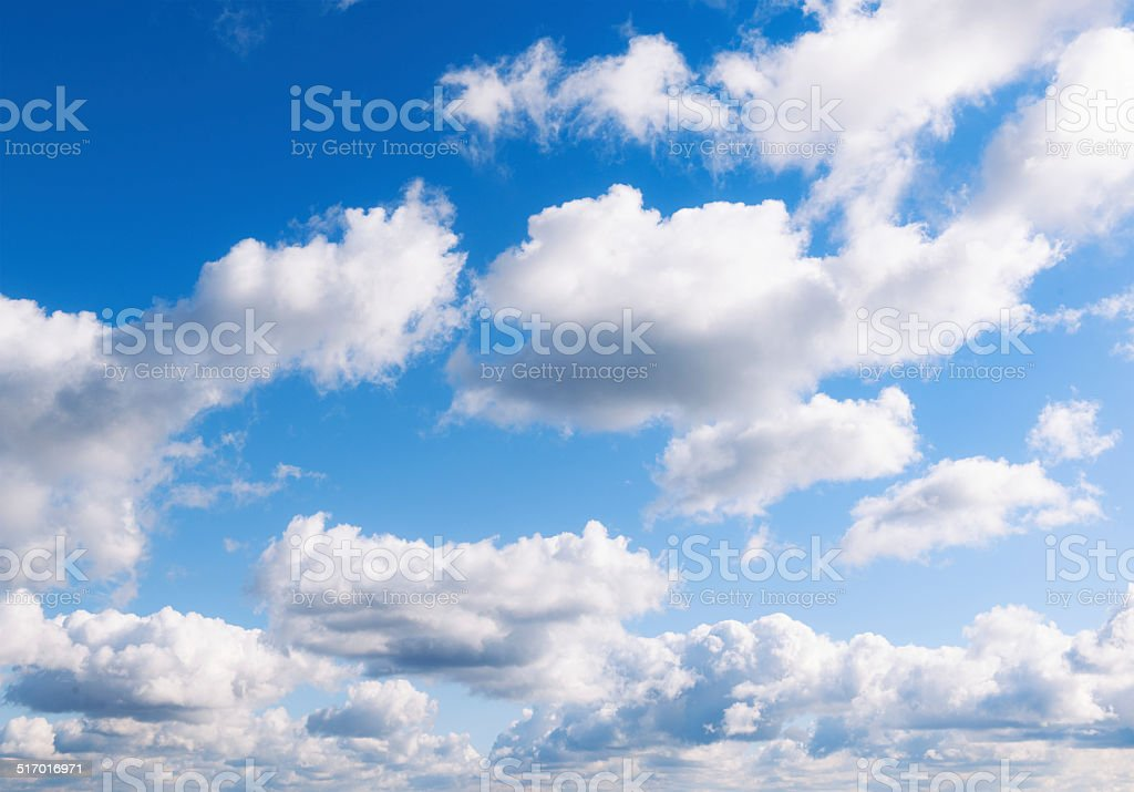 Cumulus Cloudscape stock photo