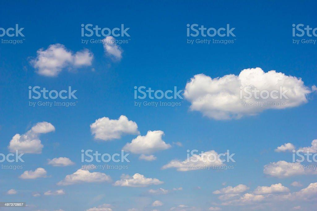 cumulus humilis stock photo