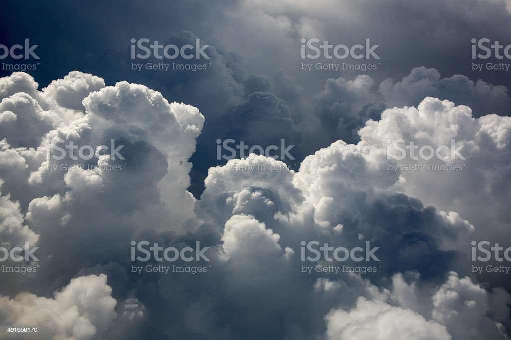 Cumulus Puffy Clouds stock photo