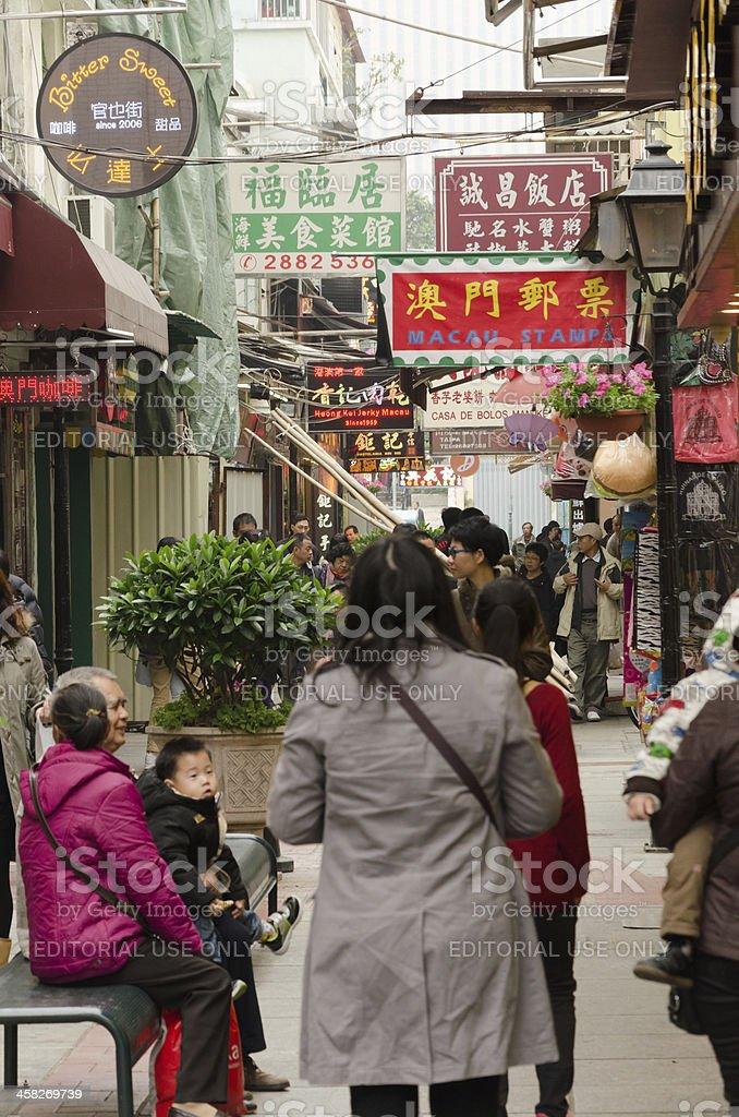 Cunha Street royalty-free stock photo