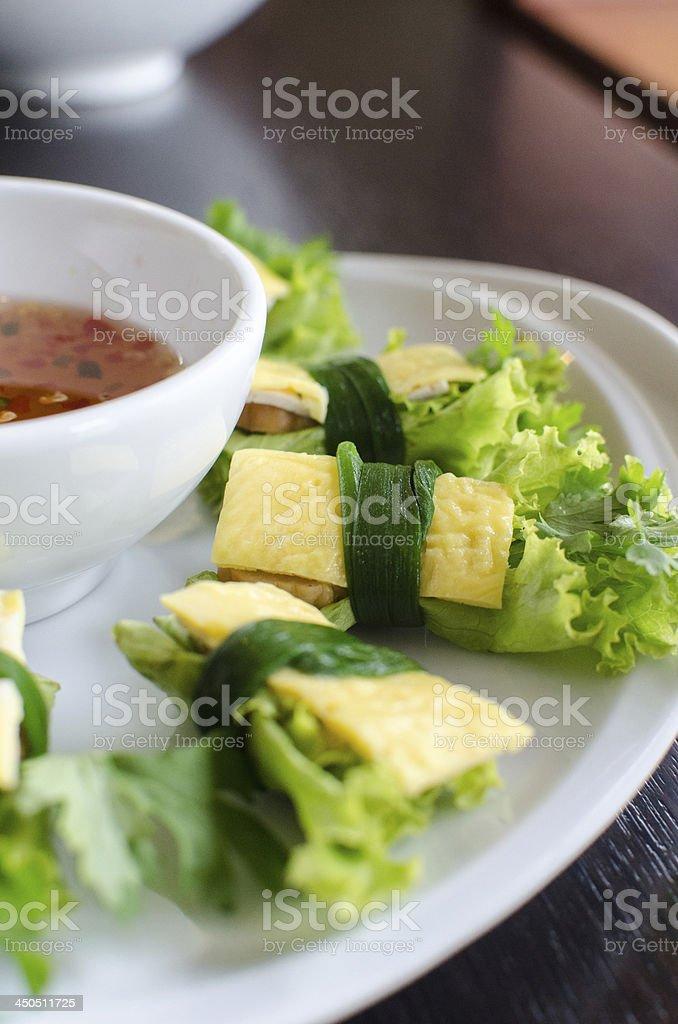 cuon hanh - Vietnamese food royalty-free stock photo