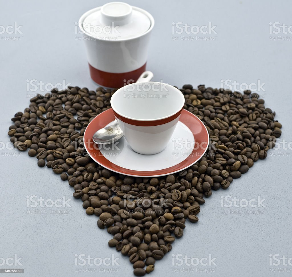 cuore di caffe royalty-free stock photo
