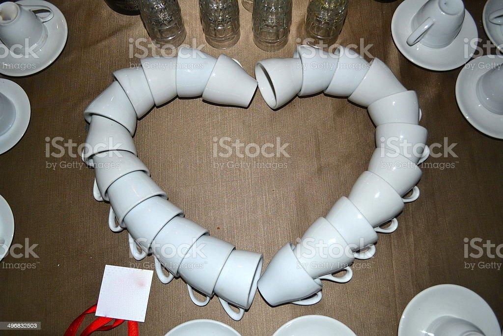 cuore di tazze stock photo