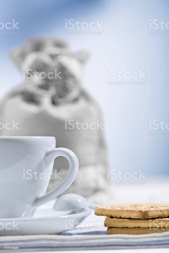 cup and cookies royalty-free stock photo