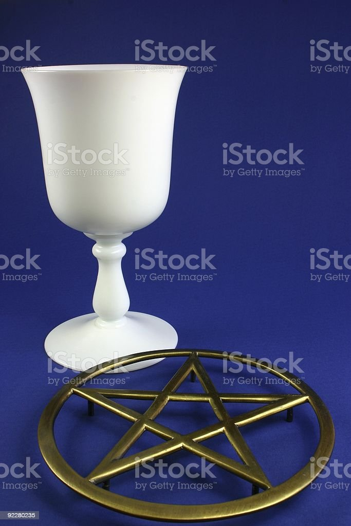 Cup and Pentacle royalty-free stock photo