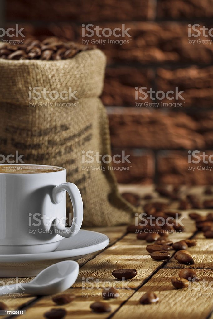 cup and sack royalty-free stock photo