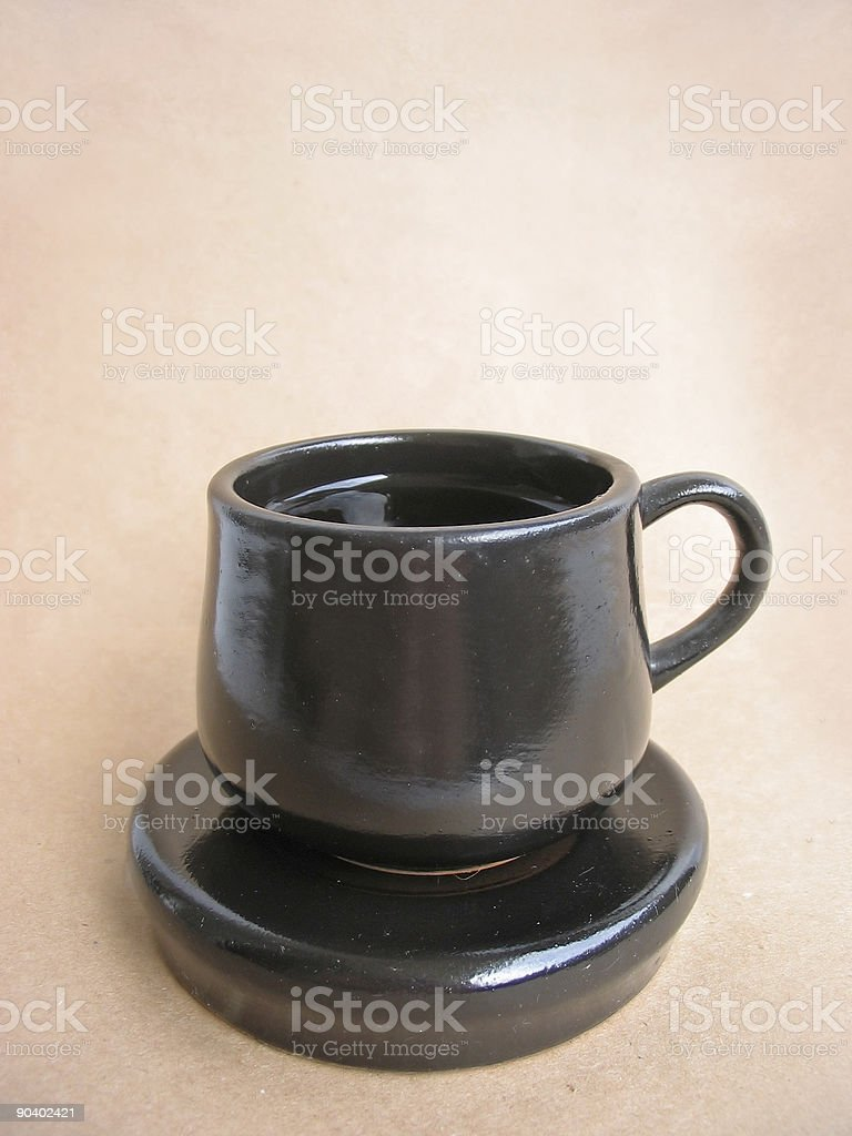 Cup and saucer royalty-free stock photo
