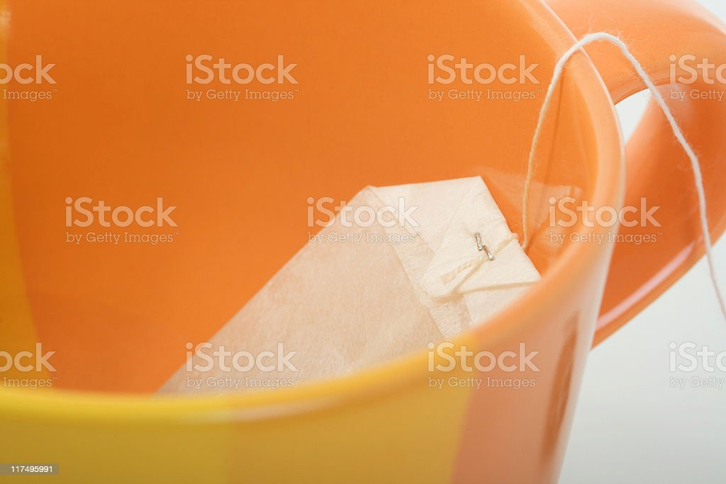 cup and tea bag royalty-free stock photo