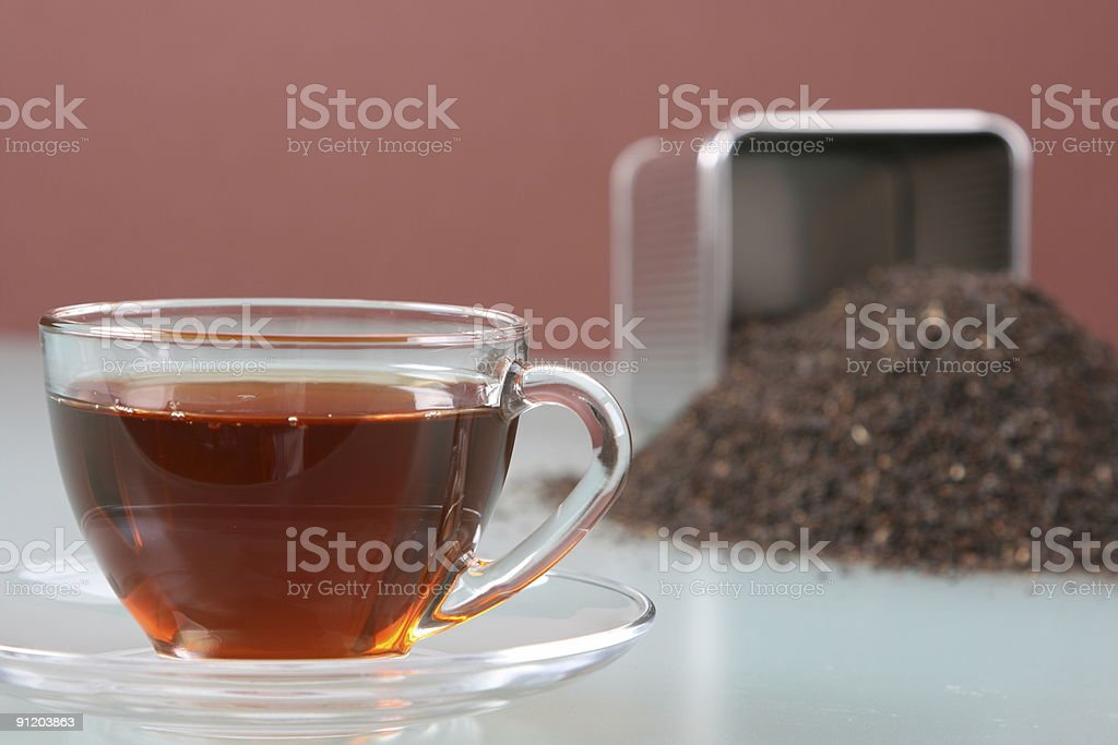Cup and Tea Caddy Left stock photo