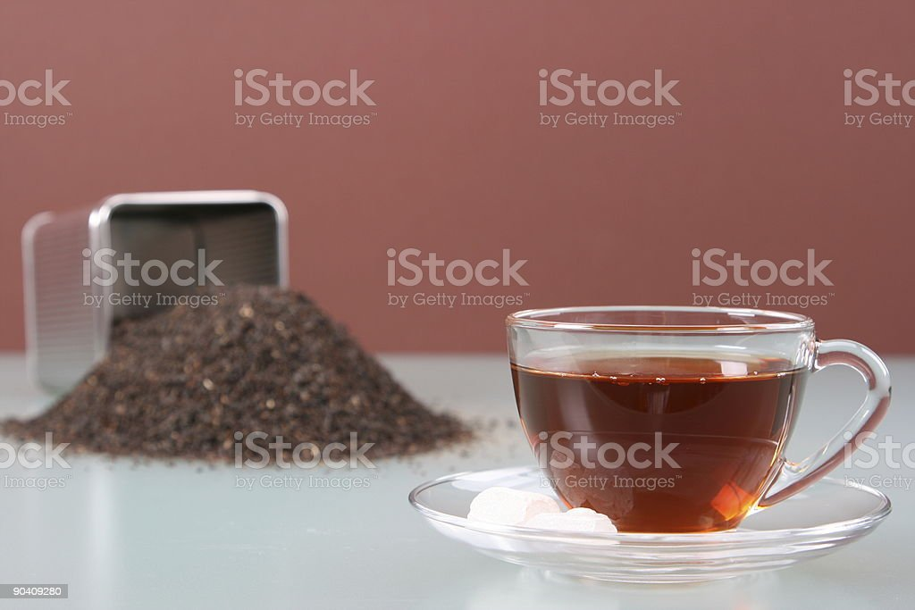 Cup and Tea Caddy Right stock photo