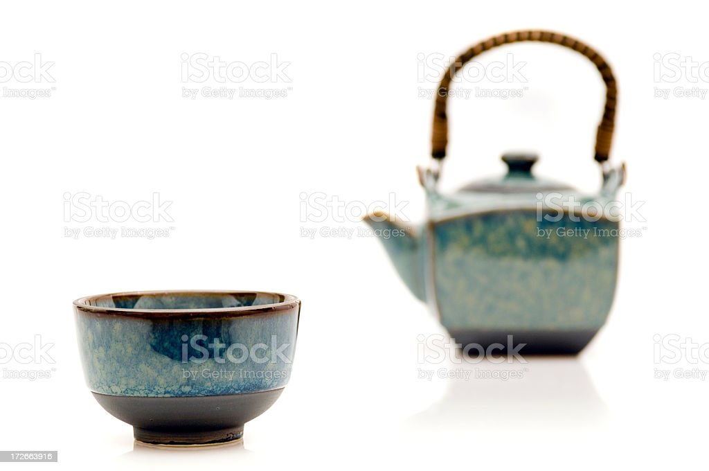 cup and teapot royalty-free stock photo