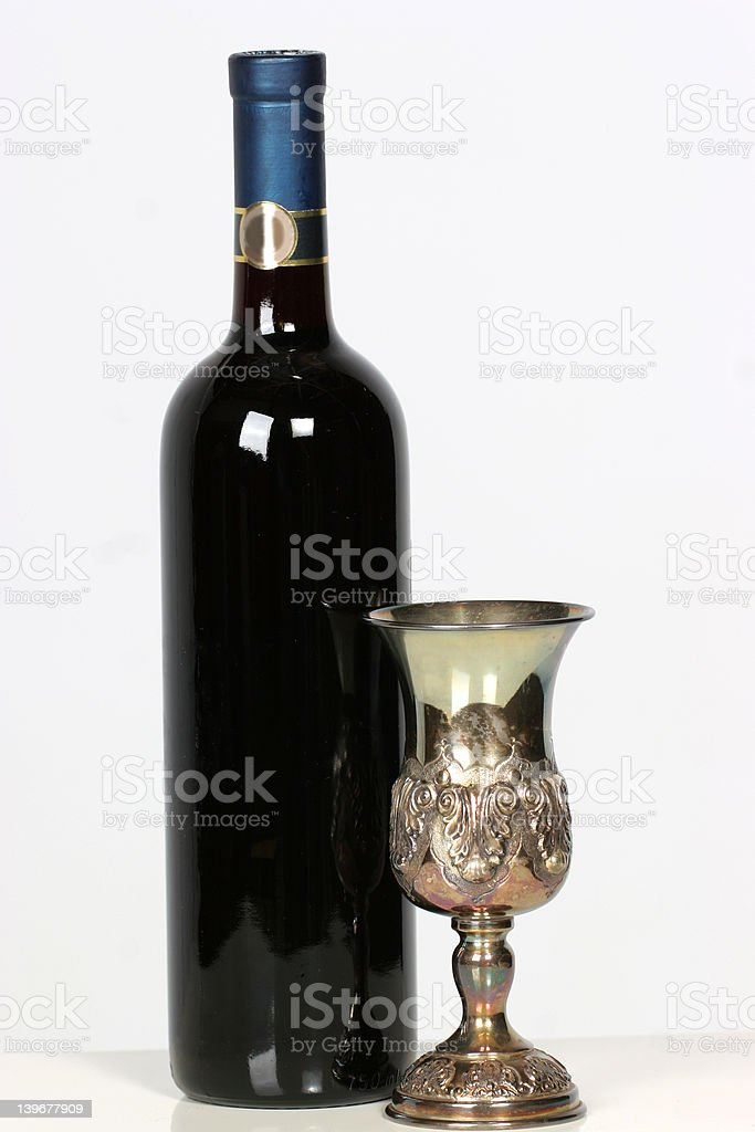 cup and wine royalty-free stock photo