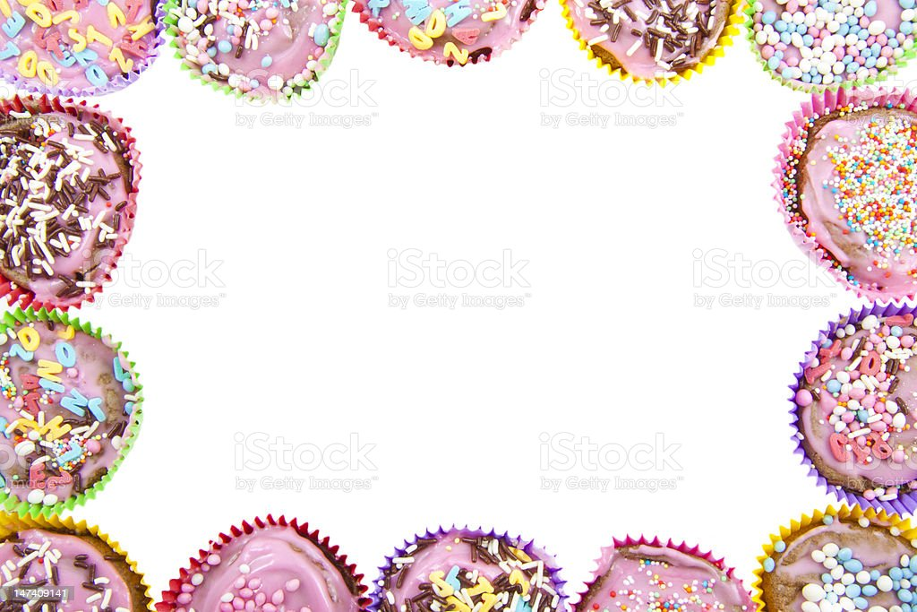 Cup cake frame royalty-free stock photo