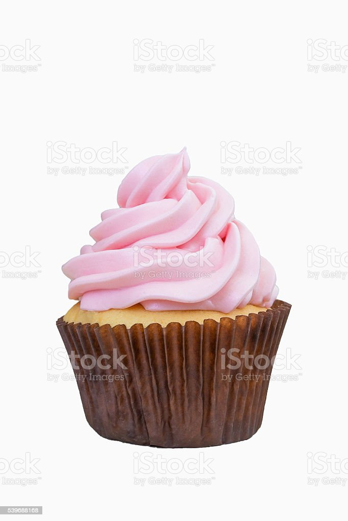 Cup cake on isolated white background. - Shallow of focus stock photo