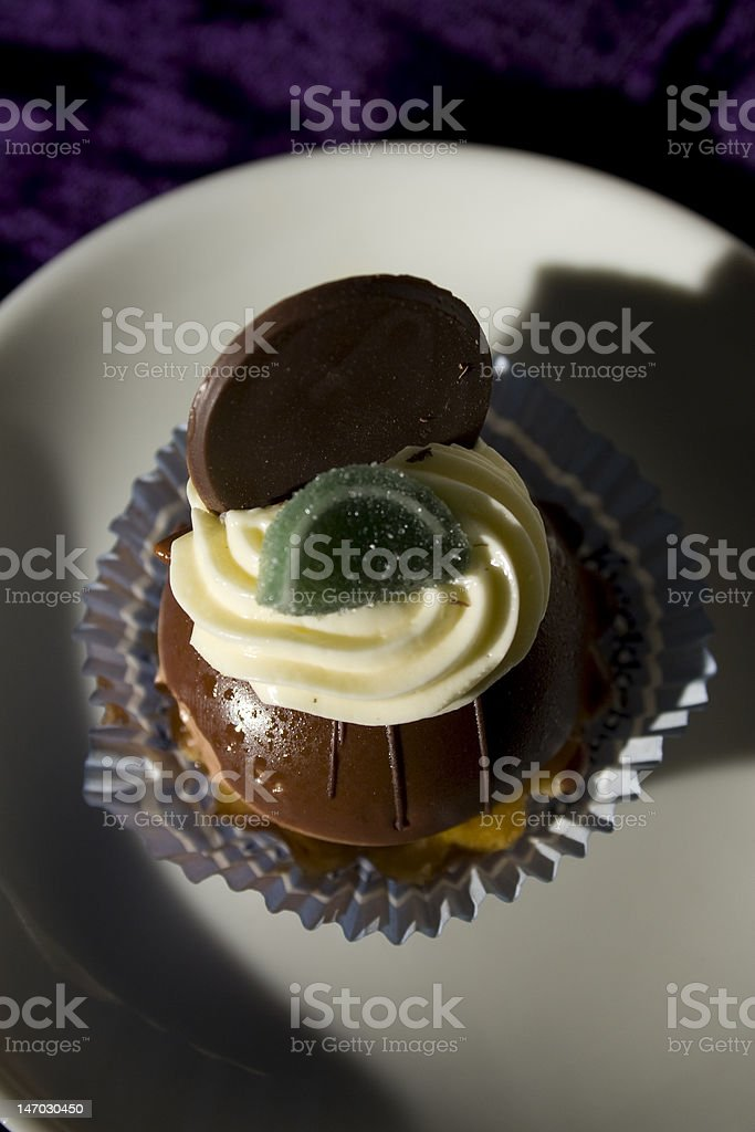cup cakes with whipped cream topping royalty-free stock photo