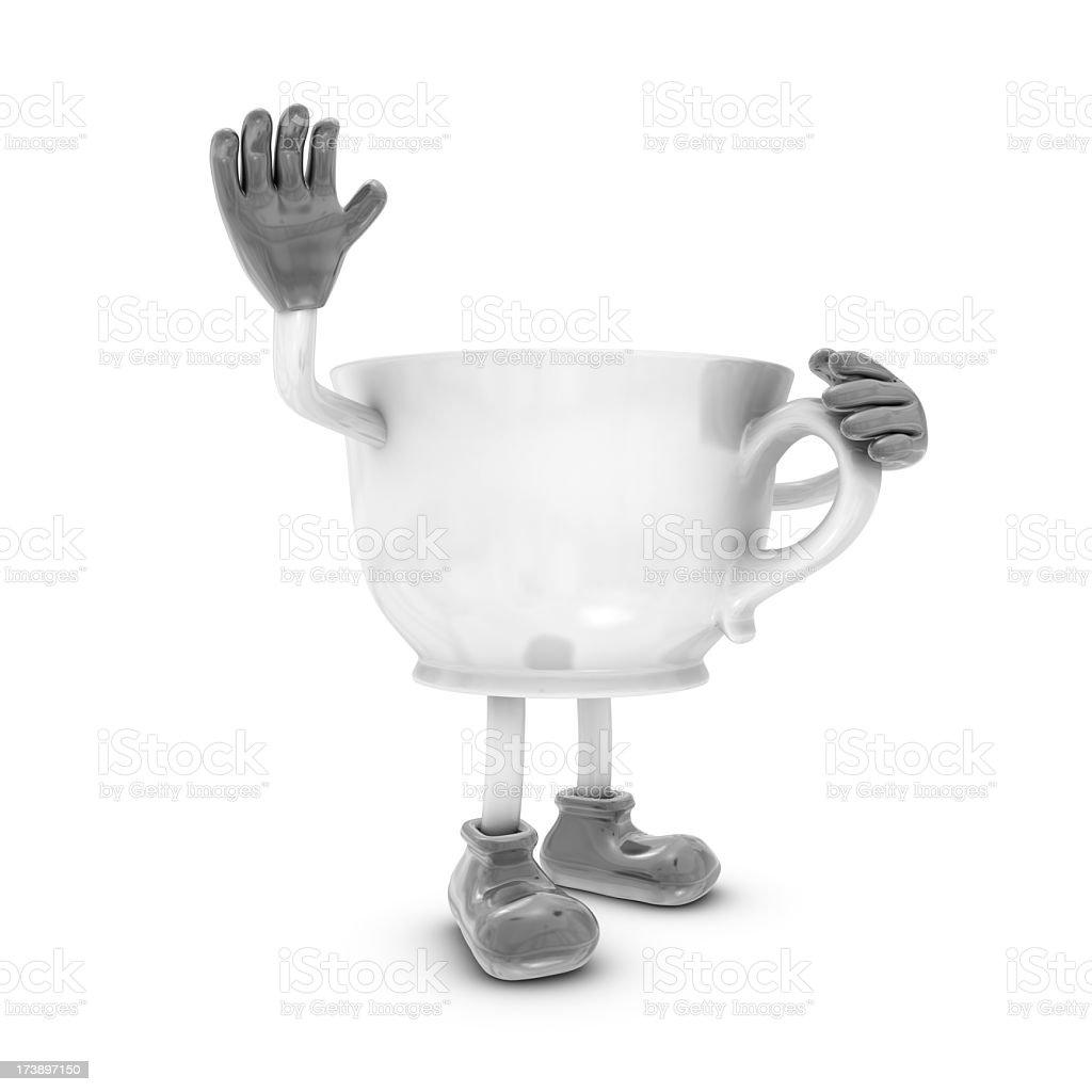 Cup Figurine stock photo