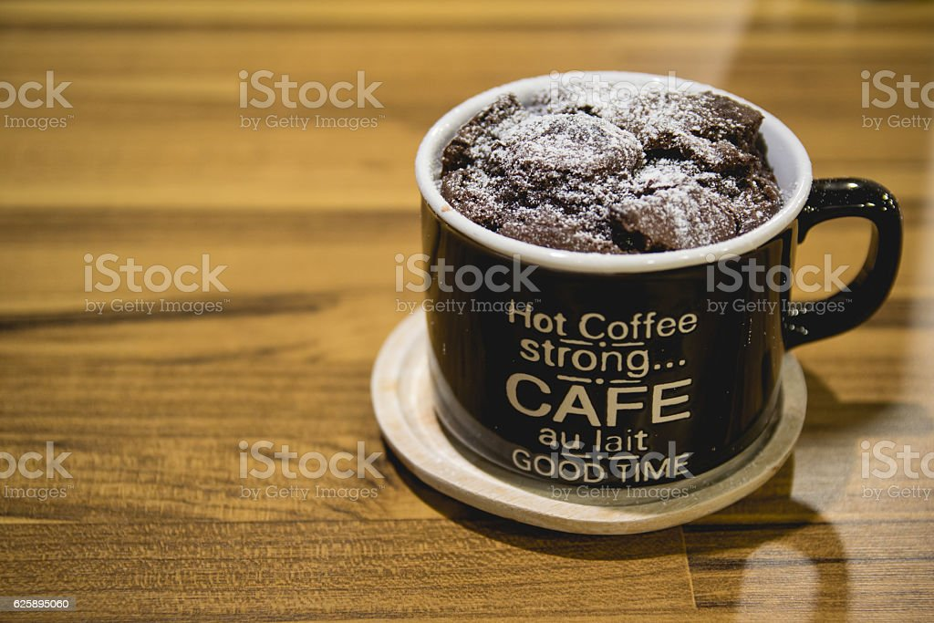 cup full of chocolate stock photo