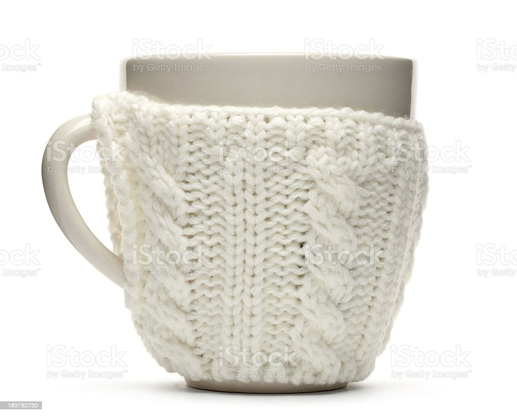 cup in sweater royalty-free stock photo