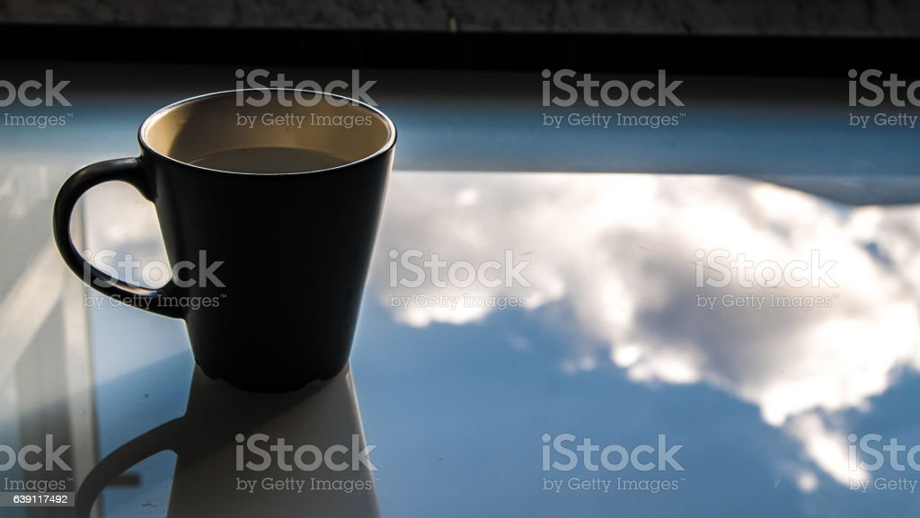 Cup in the Sky stock photo