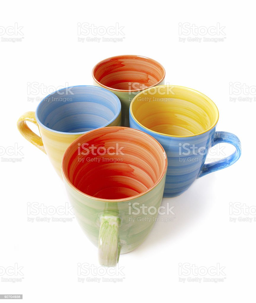 cup isolated on white royalty-free stock photo
