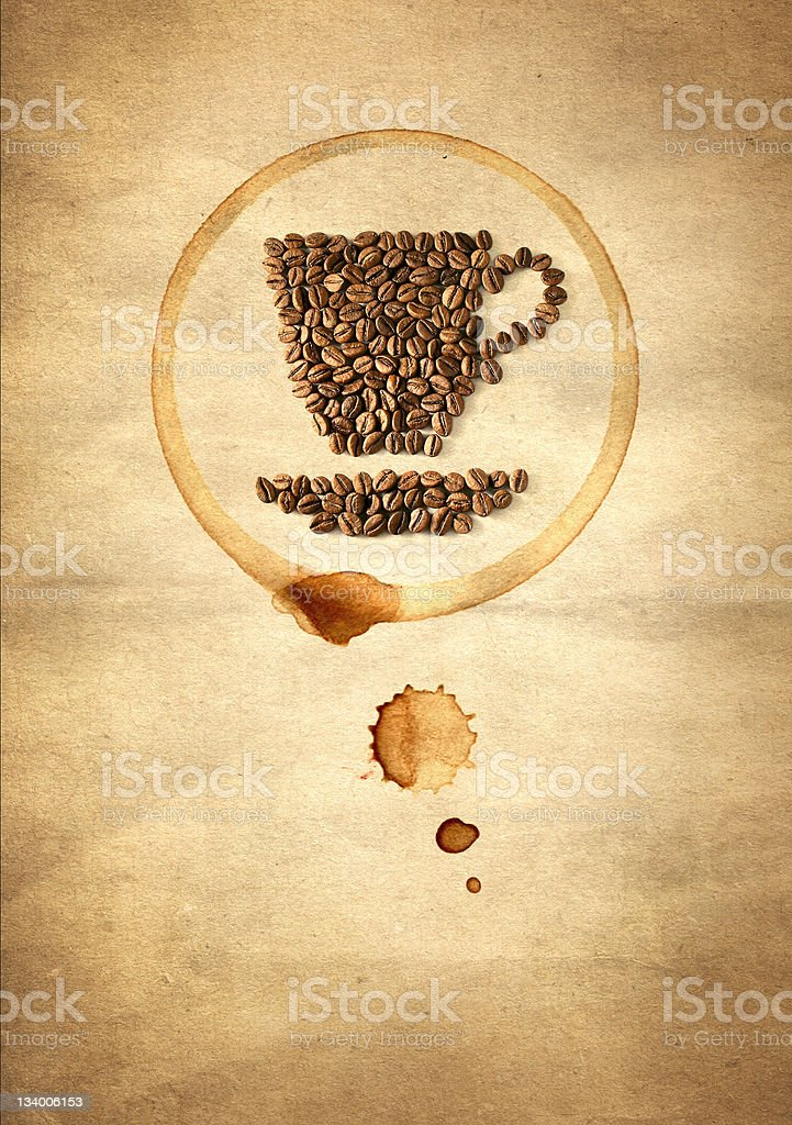 Cup made from coffee beans stock photo