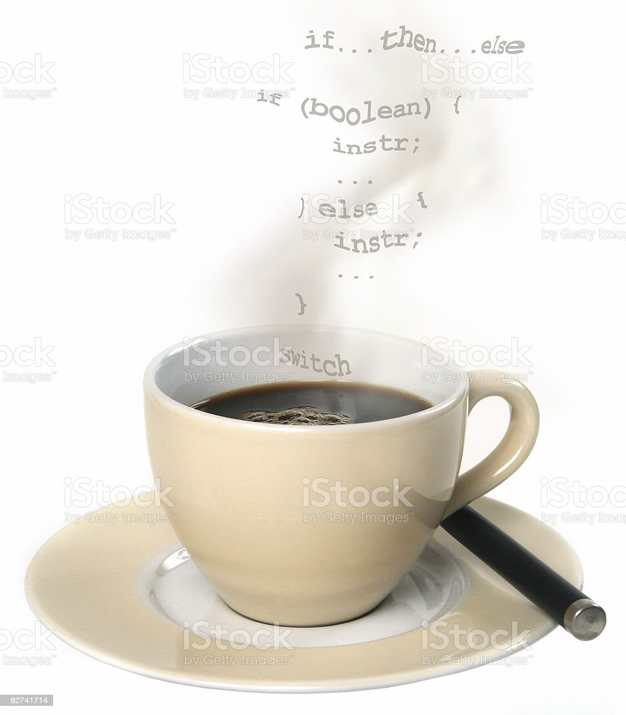 Cup O' Java royalty-free stock photo