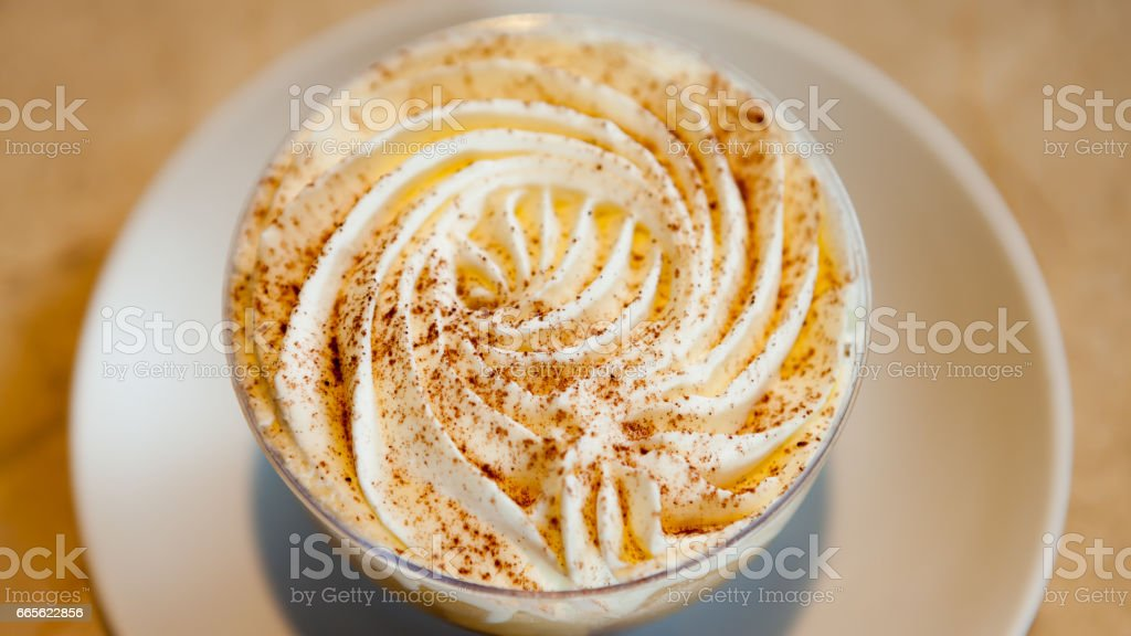 Cup of banoffee pie stock photo