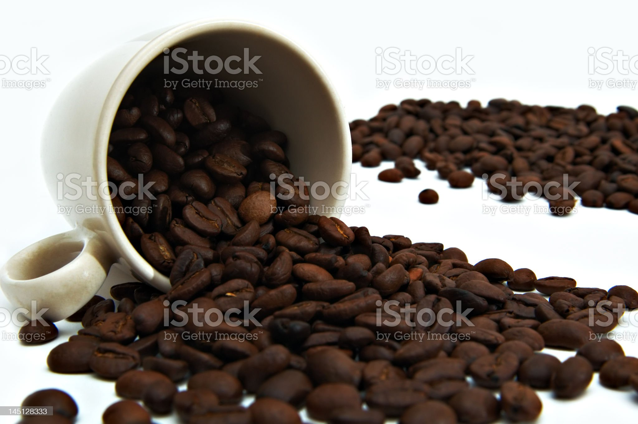 Cup of beans coffee royalty-free stock photo