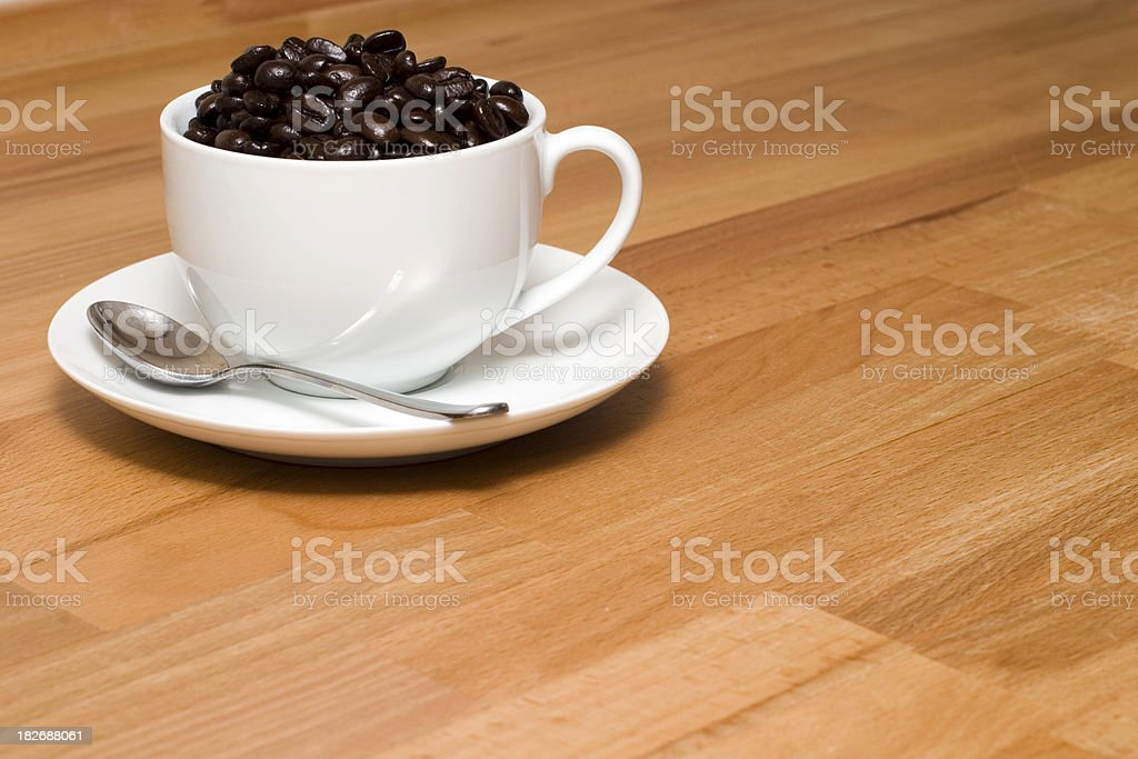 Cup of beans stock photo