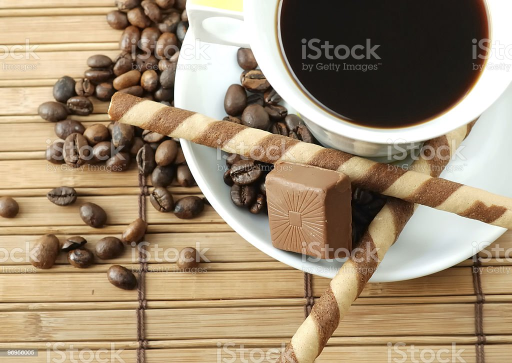 Cup of black coffe stock photo