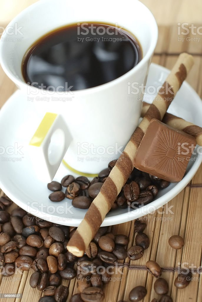 Cup of black coffe royalty-free stock photo