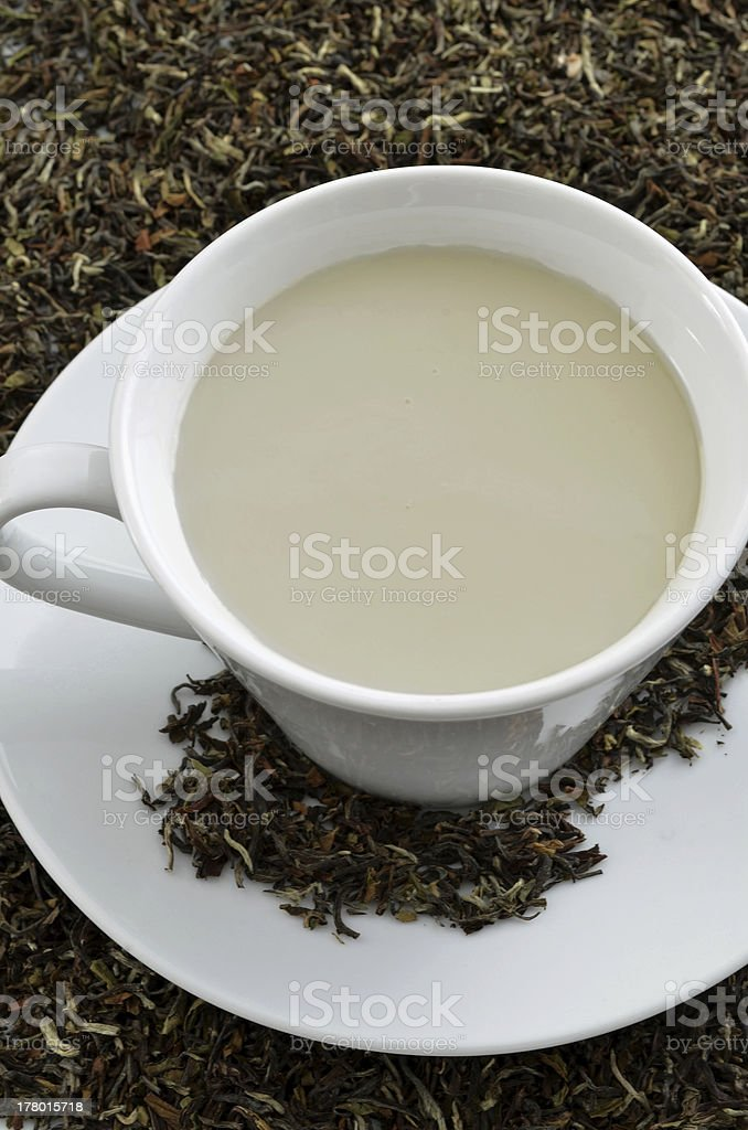 Cup of black tea stock photo