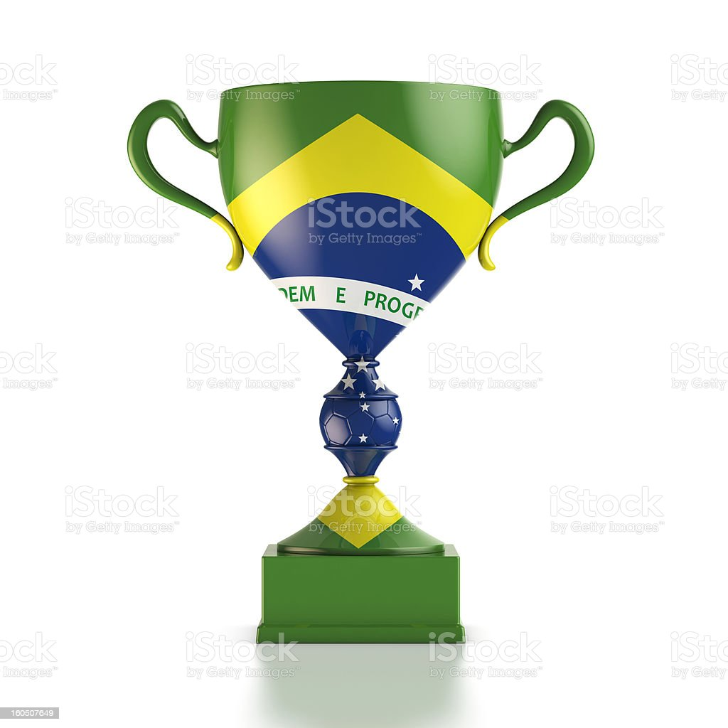 Cup of Brazil royalty-free stock photo