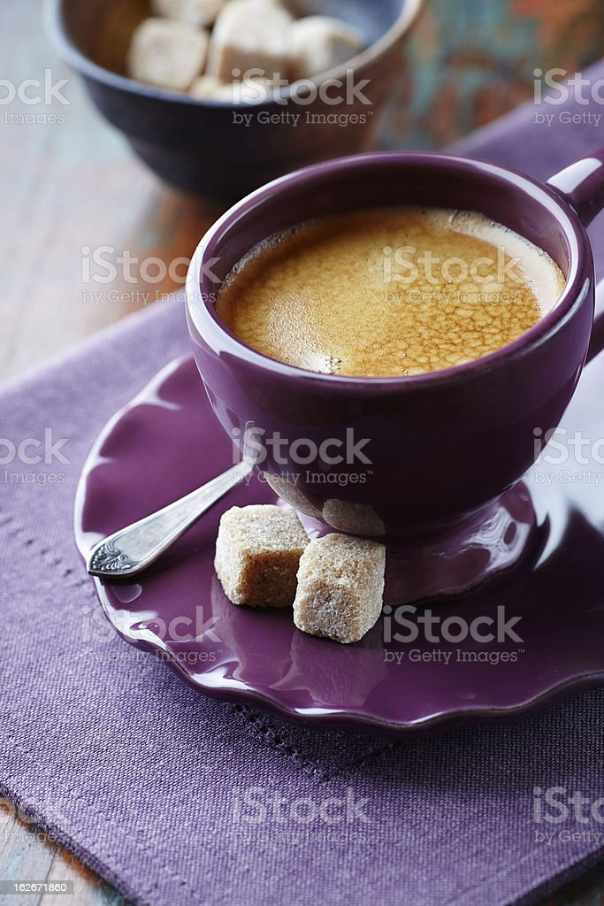 Cup of Cafe Crema stock photo