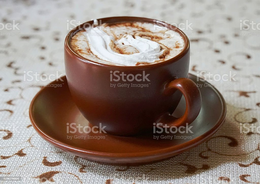 cup of caffe mocha stock photo